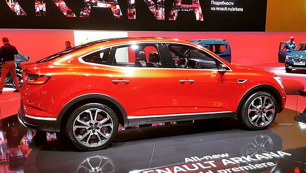 Renault объявила дату презентации нового кросс-купе Arkana для РФ