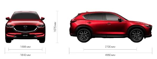Mazda cx5 габаритные размеры